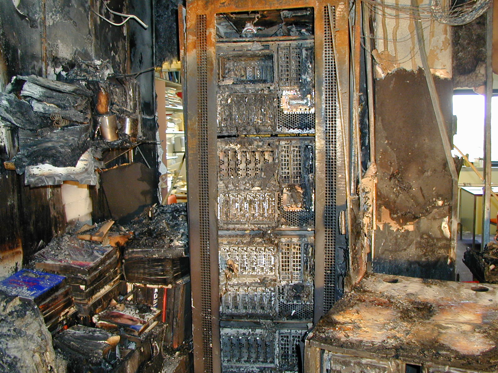 Data Center Fire Damage